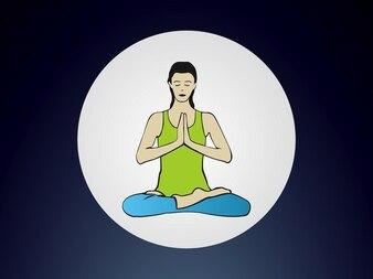 Yoga loto relaja la posición