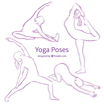 Yoga Pose Purple Siluetas