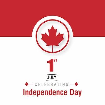 1. Juli Glücklicher Kanada-Tag Kanada-Flagge