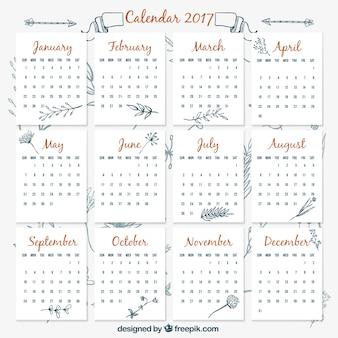 2017 Vintage Kalendervorlage