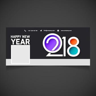 2018 Kreative weiße Typografie FB Cover