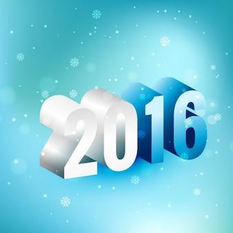 3d 2016 glückliches neues Jahr-Design