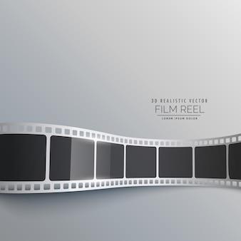 3D-Filmstreifen Vektor Hintergrund Design