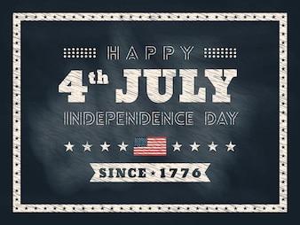 4. Juli Unabhängigkeitstag Tafel Hintergrund
