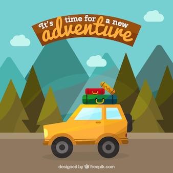 Abenteuer Hintergrund Design