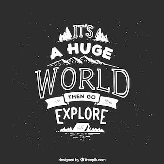 Abenteuer positive Phrase im Vintage-Stil