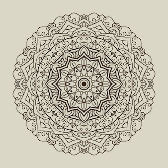 Abgerundeter Mandala Hintergrund