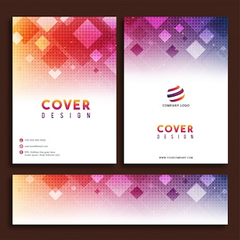 Abstract Cover Design, Business Broschüre, Web Header gesetzt.