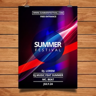 Abstract party Plakat Vorlage