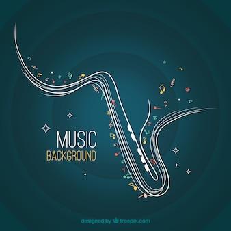 Abstract Saxophon Hintergrund