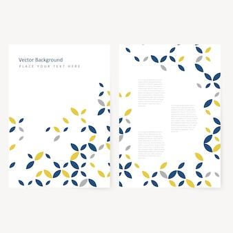 Abstract Vorlage Flyer