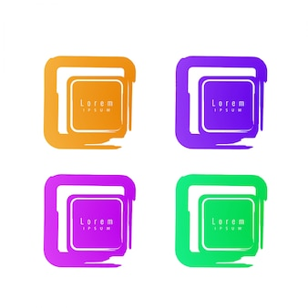 Abstrakt bunte elegante Design-Elemente mit Text Raum