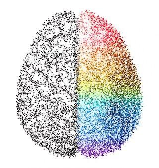 Abstrakt Gehirn