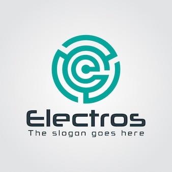 Abstrakt Maze Logo mit Schreiben E