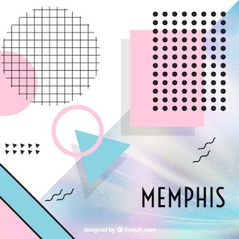 Abstrakt Memphis Formen Hintergrund