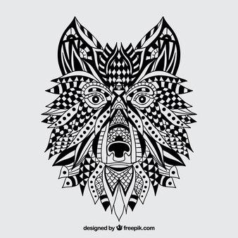 Abstrakt Wolf