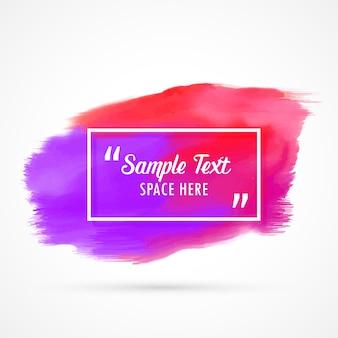 Abstrakte Aquarell Grunge Fleck Hintergrund mit Text Raum