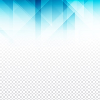 Abstrakte blaue polygonale Form transparent backgroud
