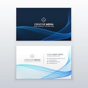 Abstrakte blaue Welle Visitenkarte Vektor-Design