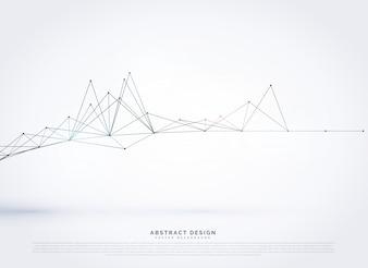 Abstrakte digitale Drahtgitter Netzwerk Linien Hintergrund