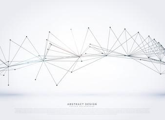 Abstrakte Draht Mesh digitale Netzwerk Linien Hintergrund