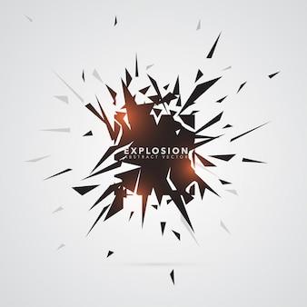 Abstrakte Dreieck-Explosions-Fahnen-Schablone