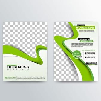 Abstrakte einzigartige Business-Broschüre