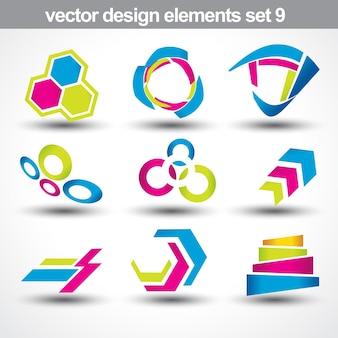 Abstrakte Form Vektor-Set 9