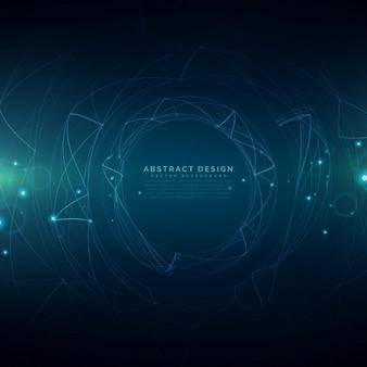 Abstrakte futuristische Technologie Mesh Hintergrund