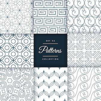 Abstrakte geometrische Muster Sammlung Hintergrund