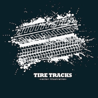 Abstrakte Grunge Reifen Spuren Markierungen auf dunklem Hintergrund