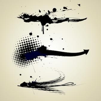 Abstrakte Grunge Tinte Splatter Texturen
