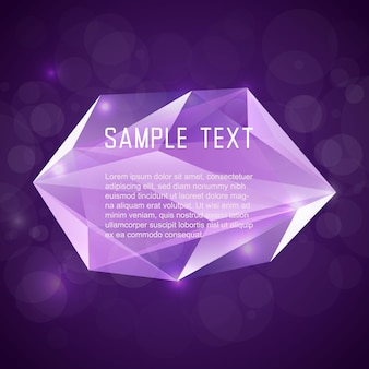 Abstrakte Kristall-Rahmen für Design