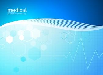 Abstrakte Moleküle medizinischen Hintergrund Design
