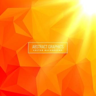Abstrakte orange Hintergrund mit geometrischen Formen hergestellt