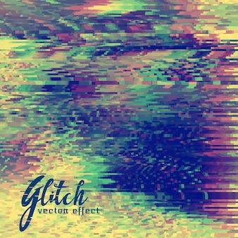 Abstrakte Vektor-Glitch Hintergrund-Design