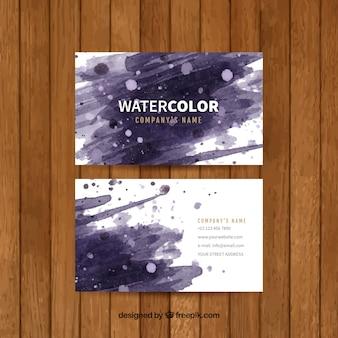 Abstrakte Visitenkarte in Aquarell-Stil
