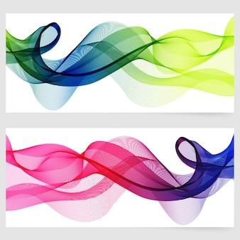 Abstrakte Vorlage horizontale Banner