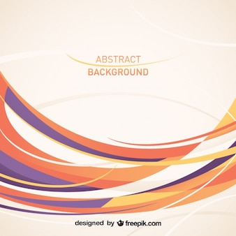Abstrakten geschwungenen Linien Vektor-Design