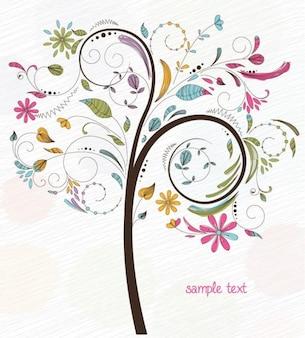 abstrakten Wirbel floral Baum Vektor-Grafik