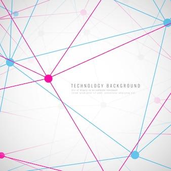 Abstrakter futuristischer technologischer Hintergrund