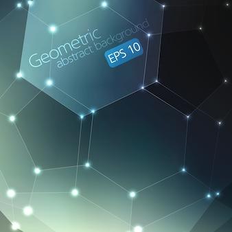 Abstrakter geometrischer Hintergrund. Eleganter Hintergrund für Karten und Einladungen. Fullerenmolekül.