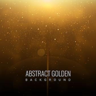 Abstrakter goldener Galaxie-Hintergrund