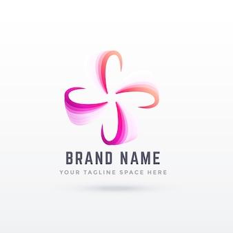 Abstrakter Logo-Design im Blumenstil