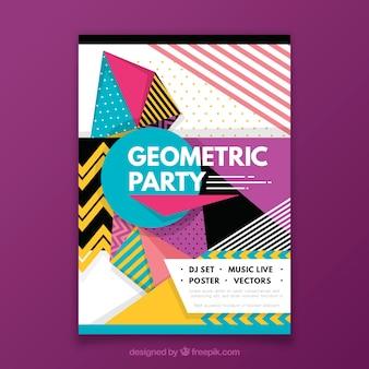 Abstraktes Partyplakat mit Geometrie