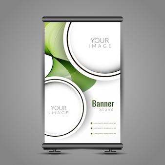 Abstraktes welliges Roll-up Banner Stand Design