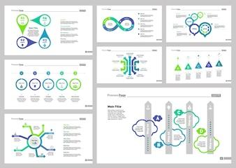 Acht Strategie Slide Vorlagen Set