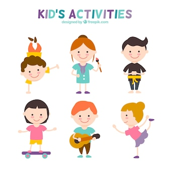 Aktivitäten für Kinder Set