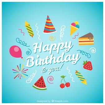 Alles Gute zum Geburtstag Karte mit Eis
