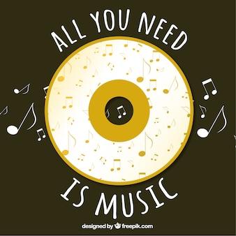 Alles was Sie brauchen ist Musik Hintergrund